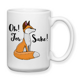 Oh For Fox Sake, Fox Cup, Water Bottle, Travel Mug, Fox Cups, Fox Mugs, Don't Care, Funny Fox