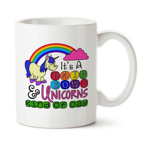 It's A Rainbows And Unicorns Kind Of Day, Coffee Mug, Water Bottle, Travel Mug, Christmas Gifts, Birthday Gifts, Unicorn Cups,