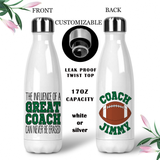 Personalized Football Coach Coffee Mug, Water Bottle, Travel Mug, Christmas Gifts, Birthday Gifts, Thanks Coach, Coach Gift