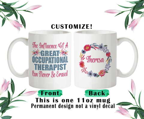 Occupational Therapist Gift, Coffee Mug, Water Bottle, Travel Mug, Christmas Gifts, Gifts For OT, OT Cup, Occupational Therapist Gift