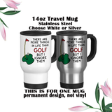 There Are More Things To Life Than Golf But I Ignore Them, Coffee Mug, Water Bottle, Travel Mug, Christmas Gifts, Gifts For Him, Golf Gift, Fathers Day, Golfer Gift