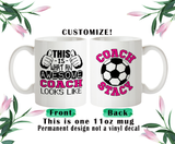 Soccer Coach Coffee Mug, Coach Water Bottle, Coach Travel Mug, Christmas Gifts, Birthday Gifts, Thanks Coach, Coach Gift
