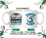 Personalized Volleyball Coach Coffee Mug, Water Bottle, Travel Mug, Christmas Gifts, Birthday Gifts, Thanks Coach, Coach Gift