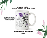 Choose Joy Mug, Joy Bottle, Joy Coffee Mug, Positive Message, Custom Mugs, Custom Water Bottle, Joy Flower Cup