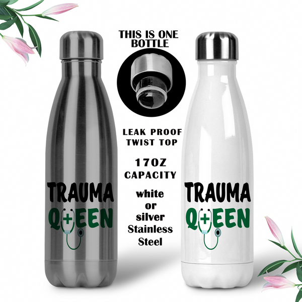 Trauma Queen Bottle, ER DR Gift, Doctor Water Bottle, Travel Mug, Christmas Gifts, Gifts For ER Nurse, RN Cup, NP Gift