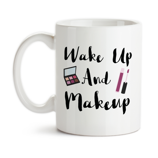 Wakeup And Makeup, Coffee Mug, Water Bottle, Travel Mug, Christmas Gifts, Makeup Artist, Cosmetology Gift
