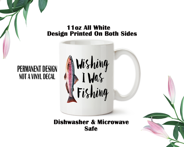 wishing i was fishing 002 coffee mug water bottle travel mug christmas