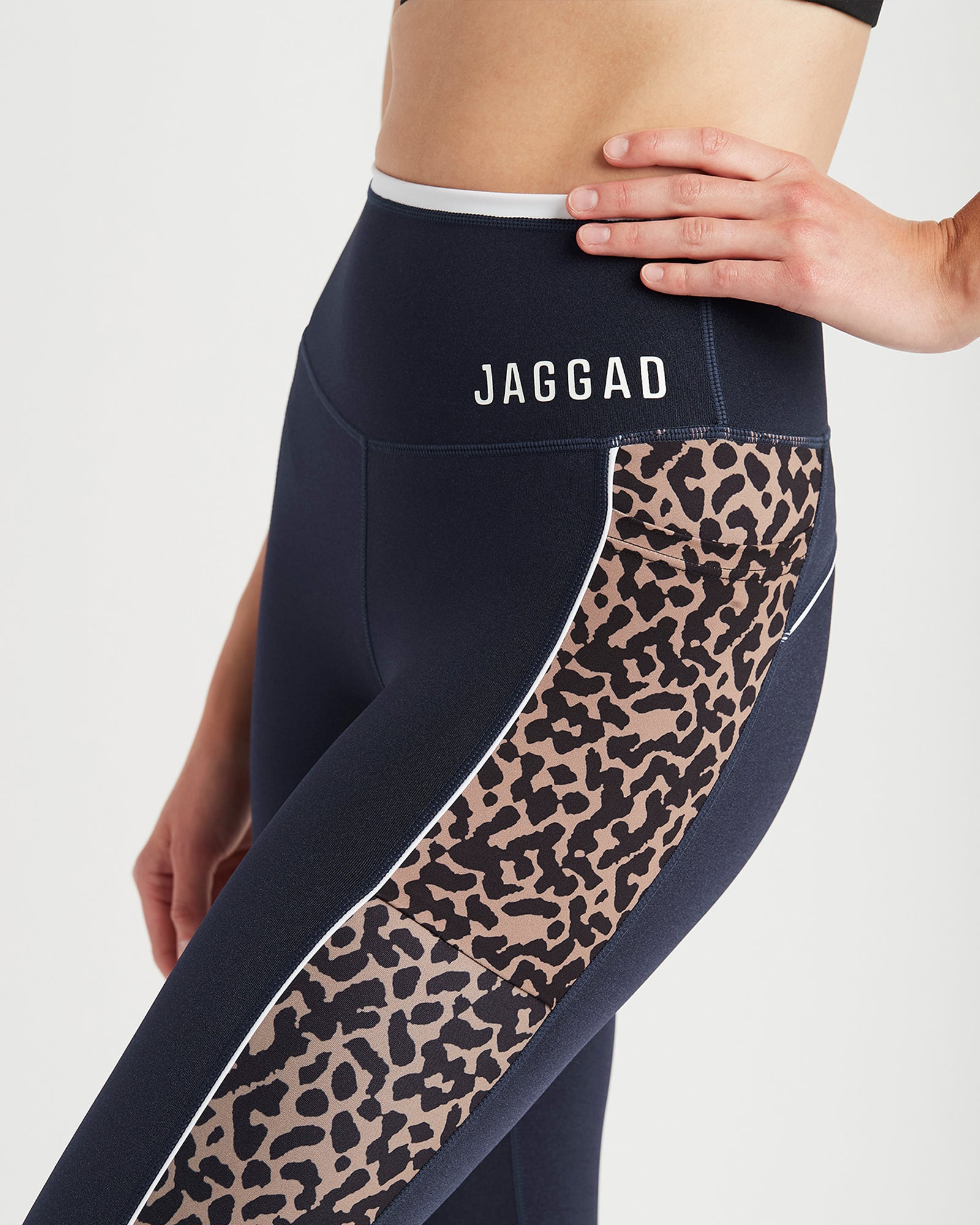 Pasadena High Waist 7/8 Pocket Glace Legging Navy