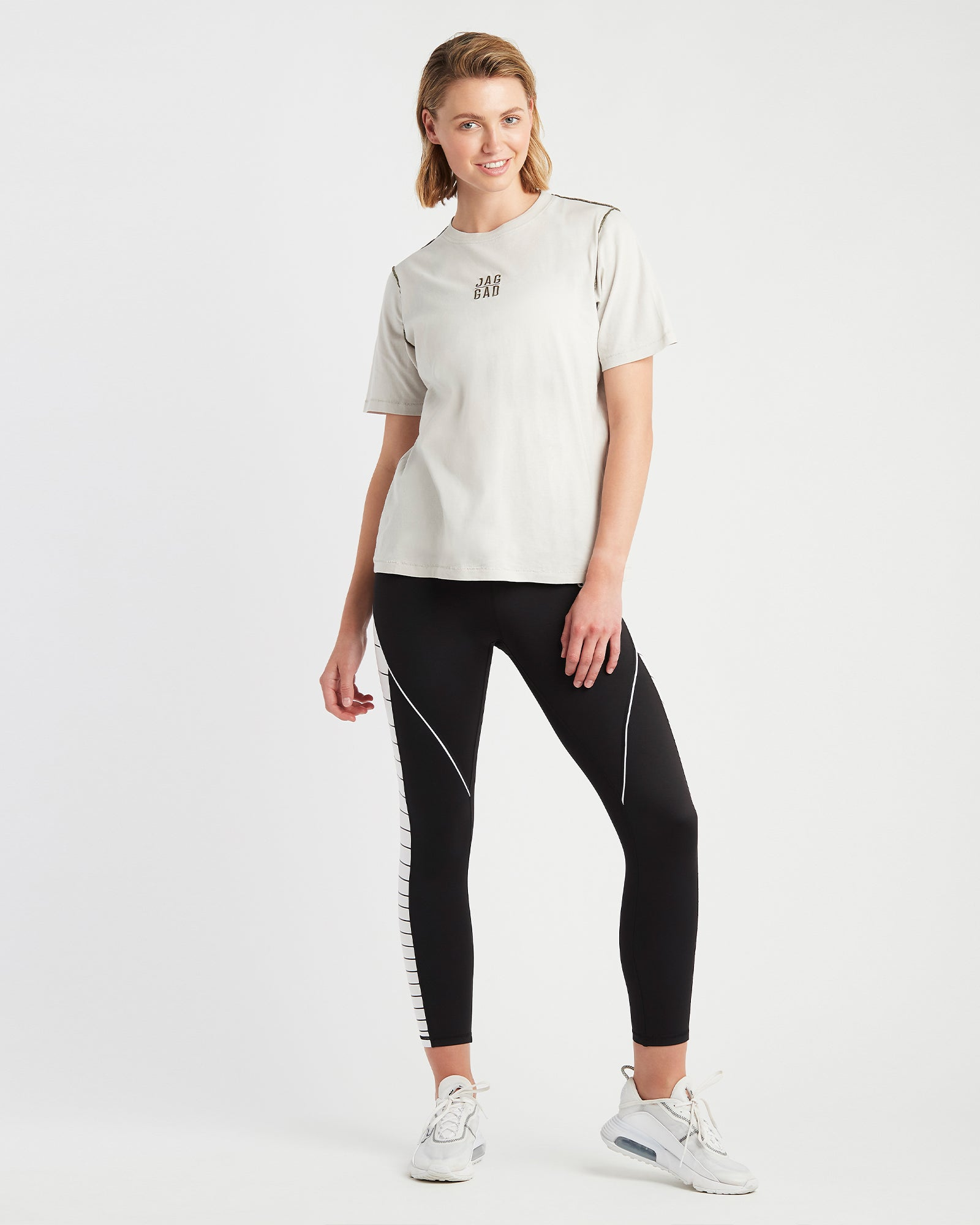 Reflect Boxy Organic Cotton Tee Off White