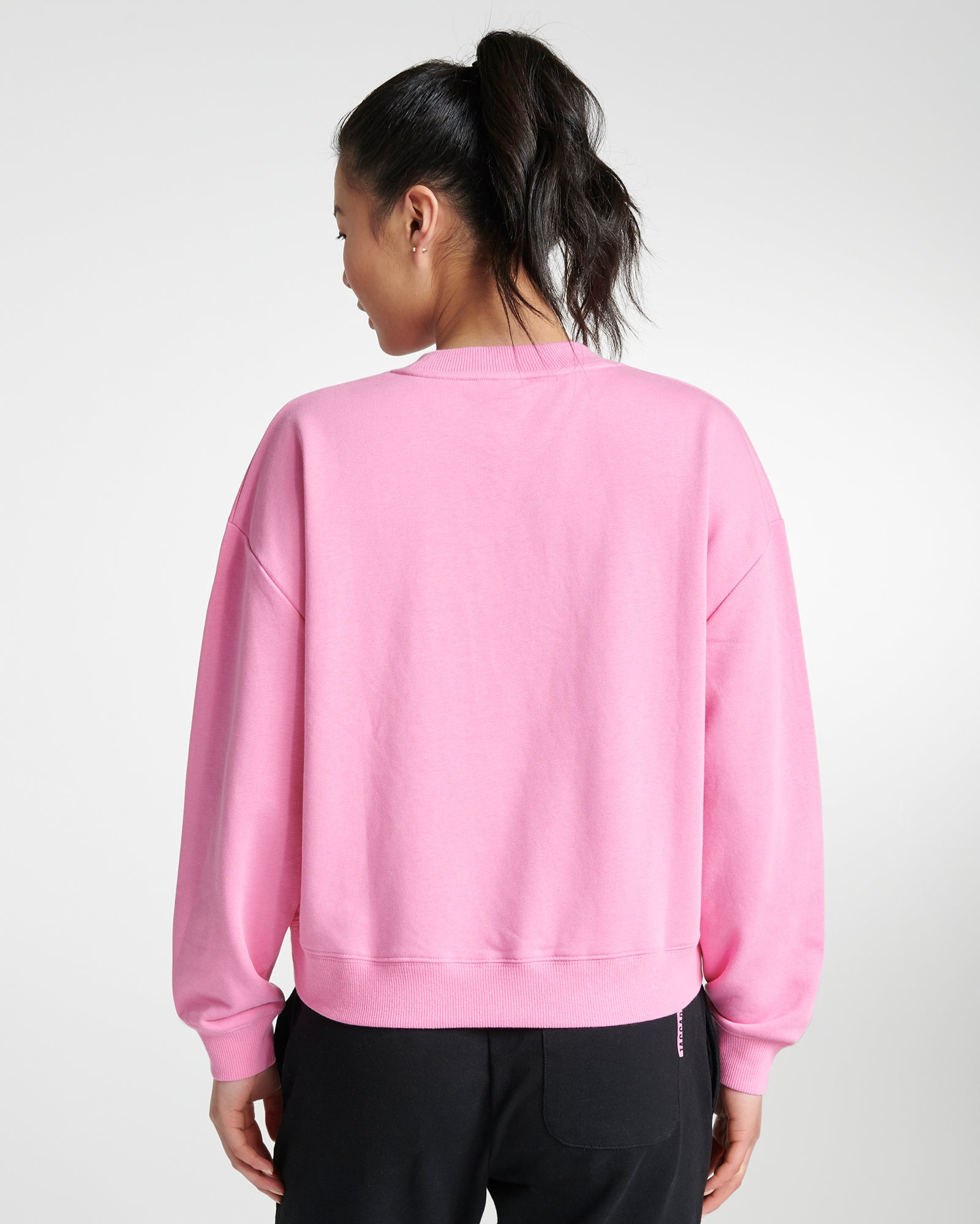 Crop Sweater Fuchsia Pink