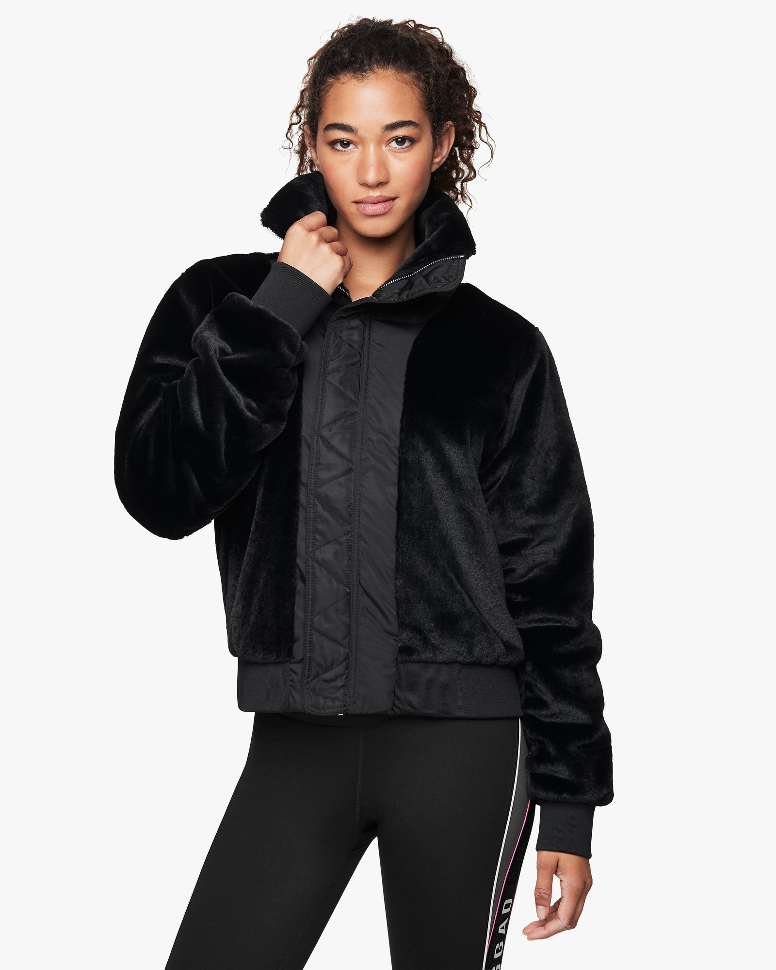 Laguna Reversible Fur Bomber Jacket