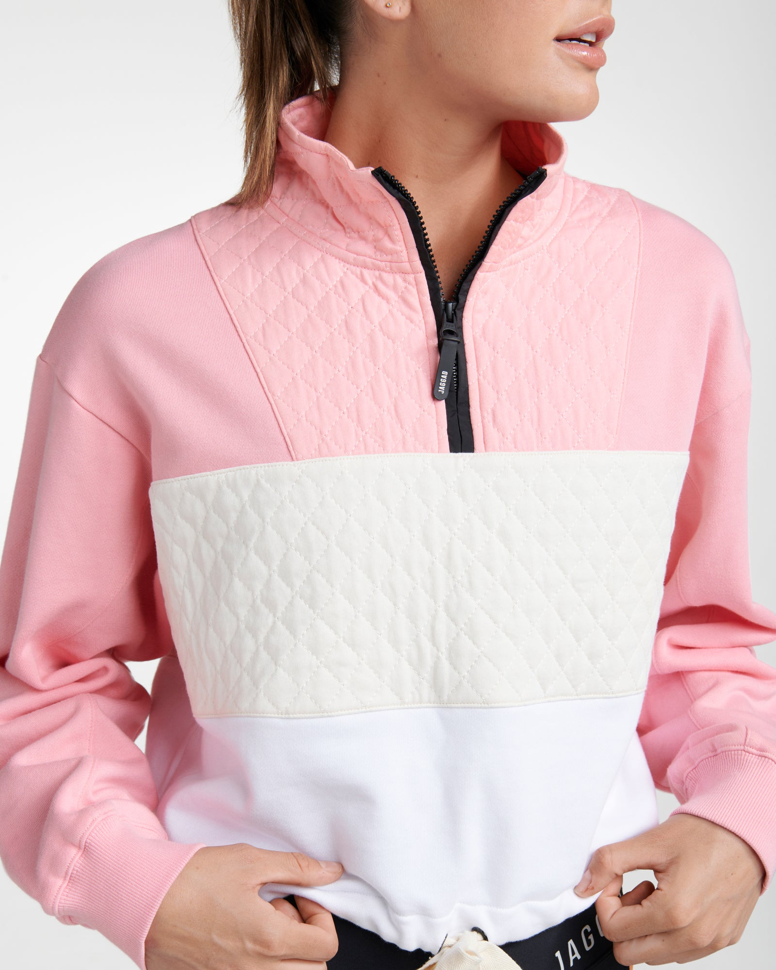 MONTEREY ORGANIC COTTON PANELLED SWEATER