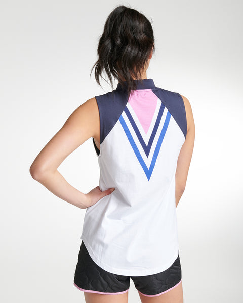 Vista Del Mar Raglan High-Neck Tank