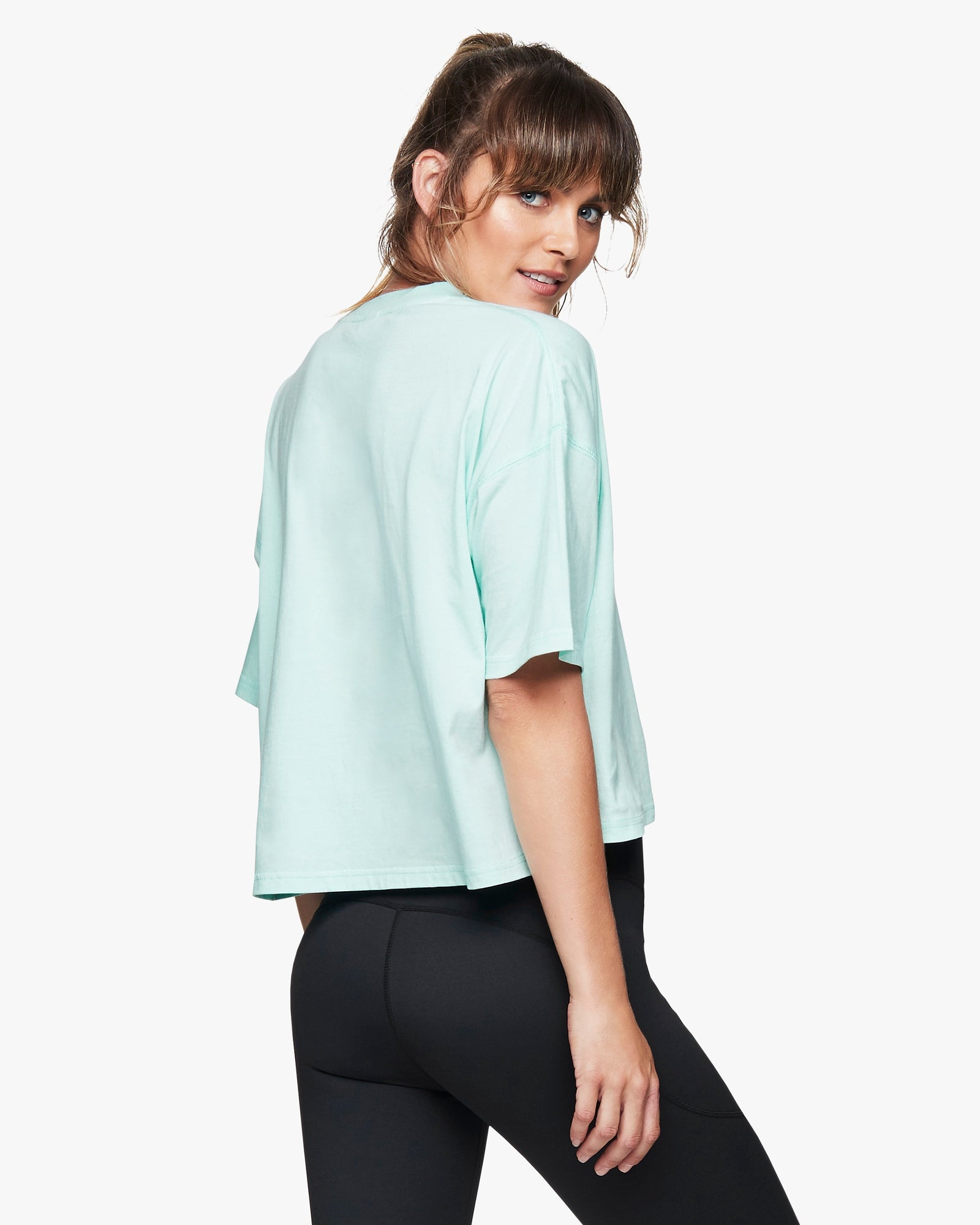 Aqua Panama Organic Cotton Crop Tee