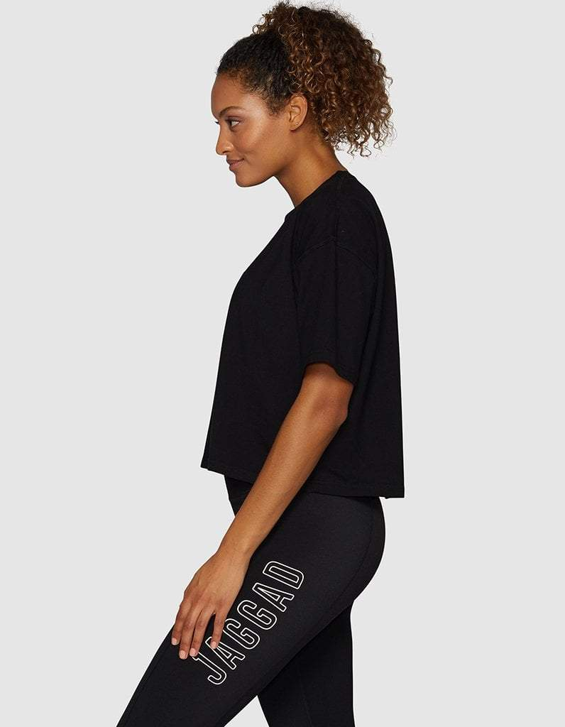 Black Core Crop Tee