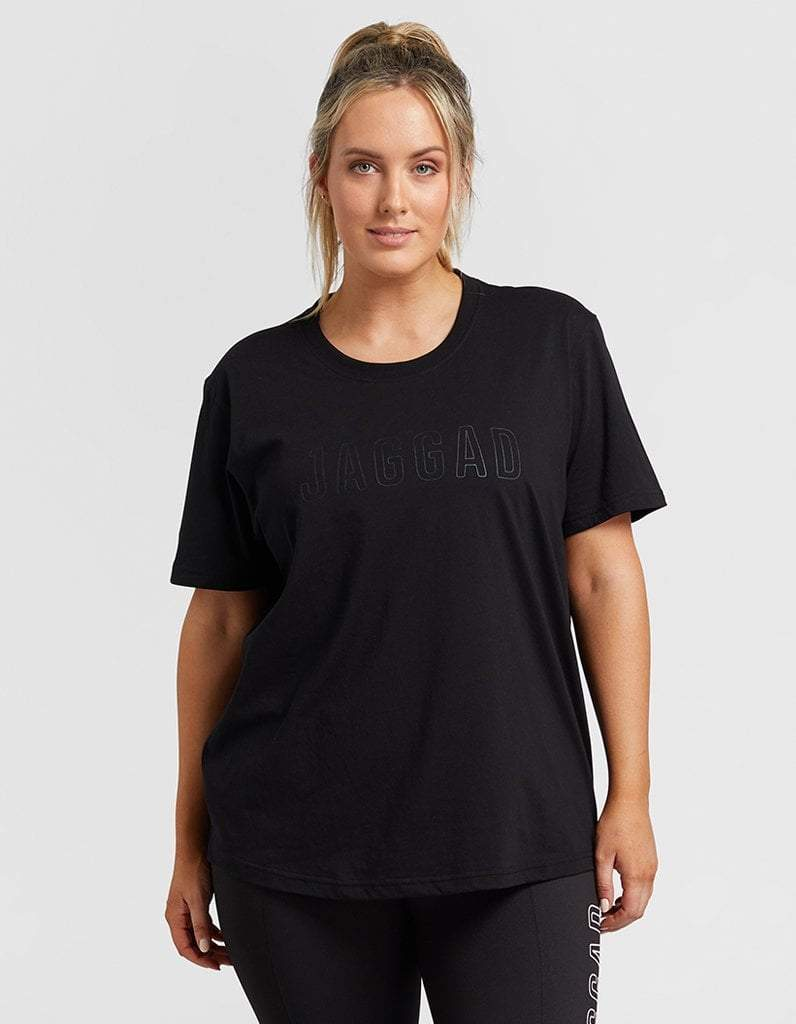 Classic Black Tee with Black Logo