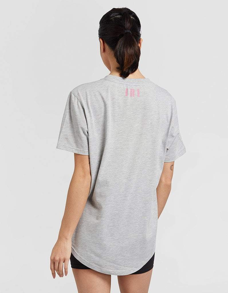 Classic Grey with Pink Logo Tee