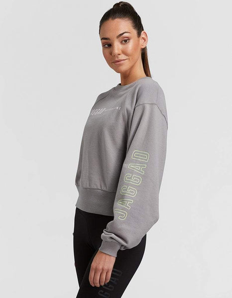 Jaggad Dove Grey Oversized Crop Sweater