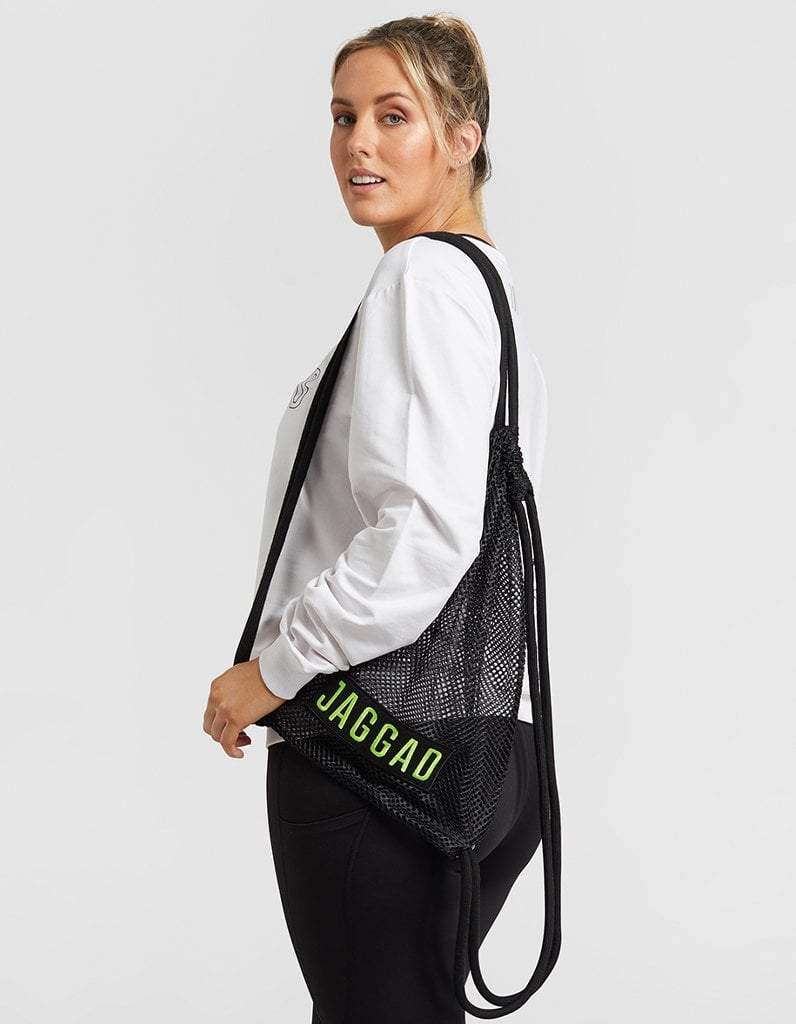 Jaggad Kansas Black Mesh Backpack