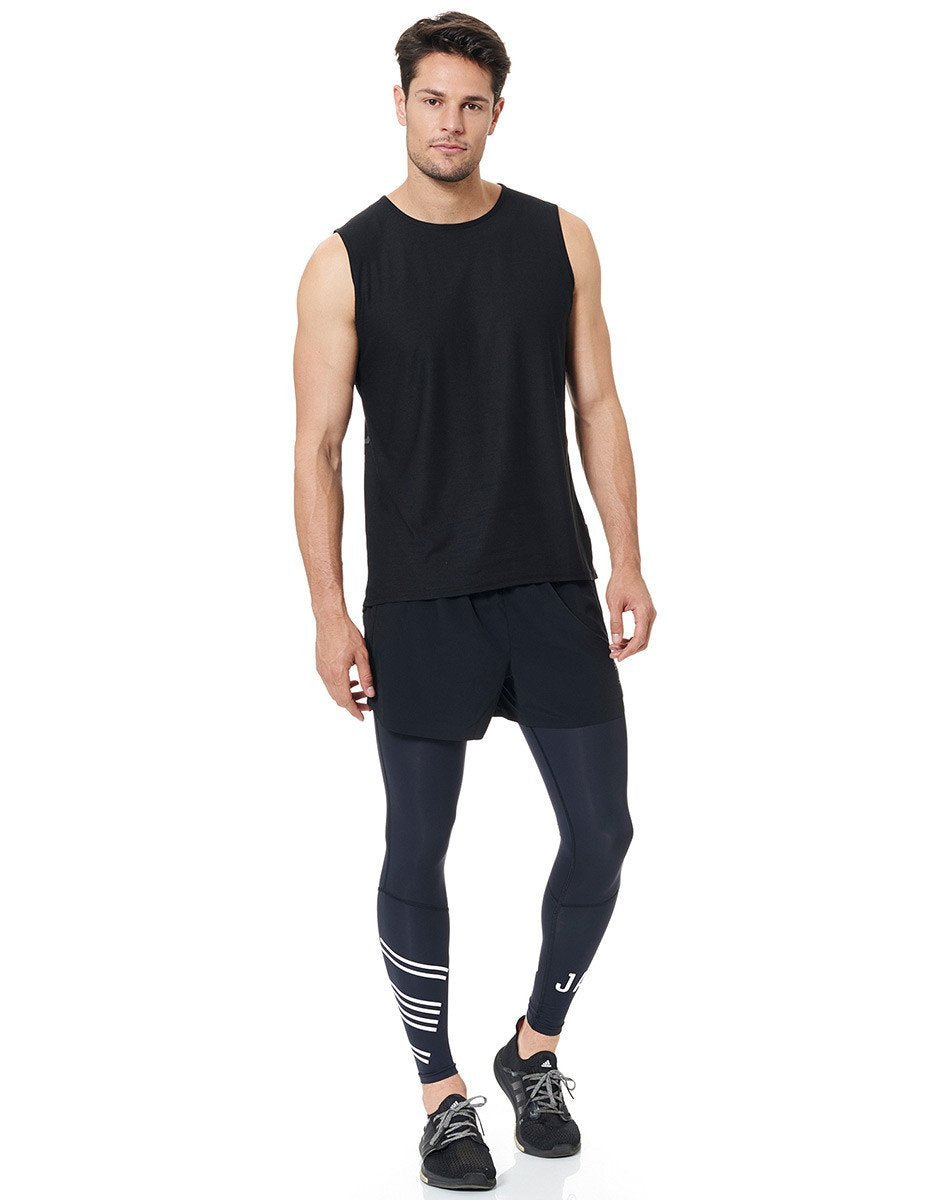 Jaggad Men's Black Muscle Tank