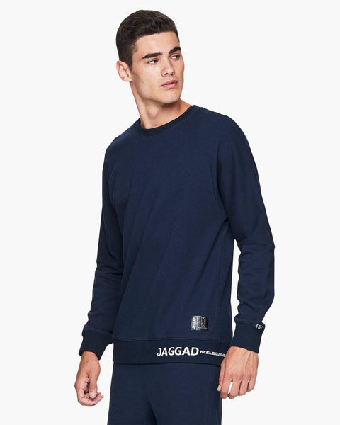 Jaggad Navy Crew-Neck Sweater