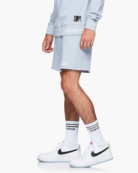 Jaggad Pale Blue Fleece Shorts