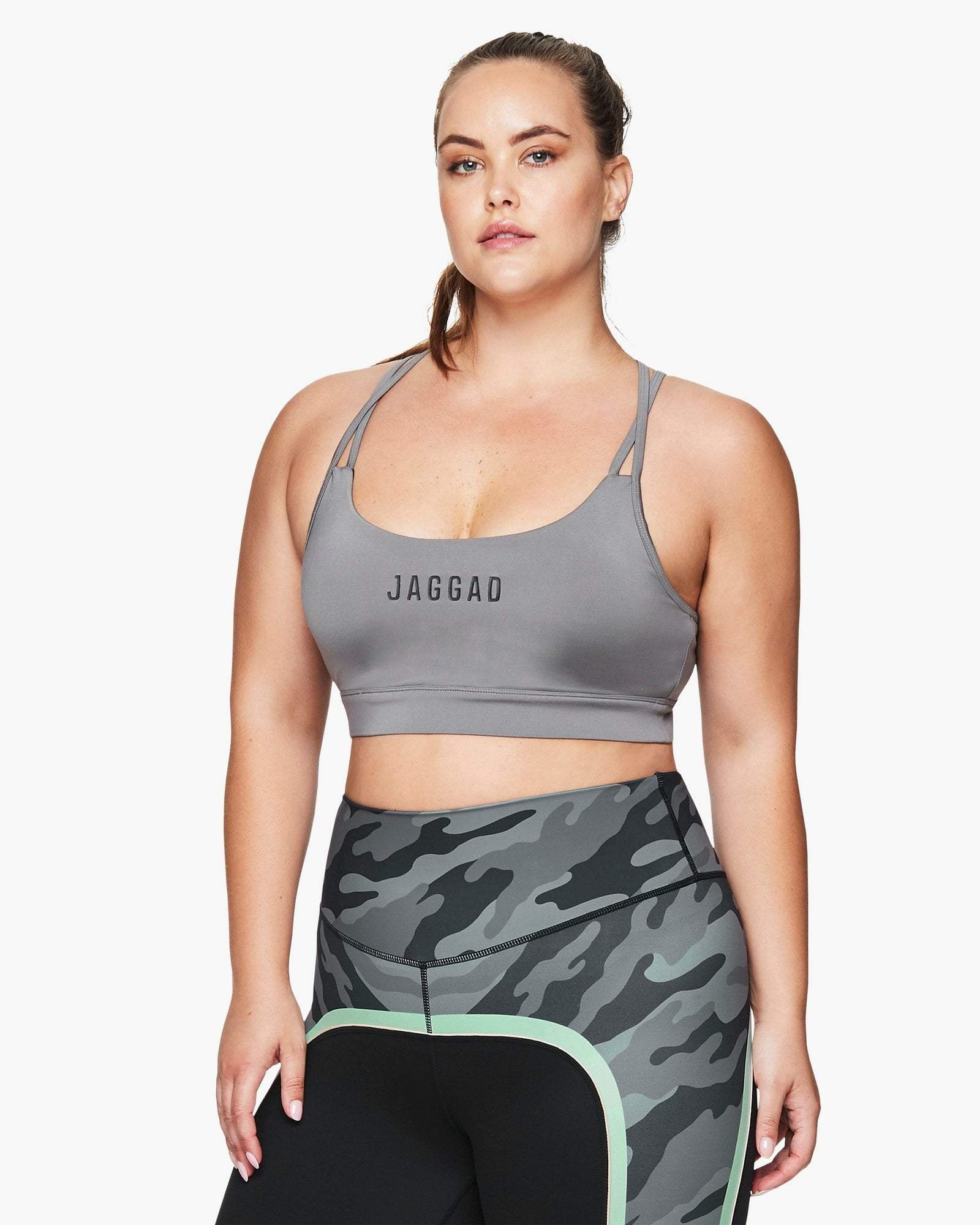 Jaggad Steel Strappy Crop Bra