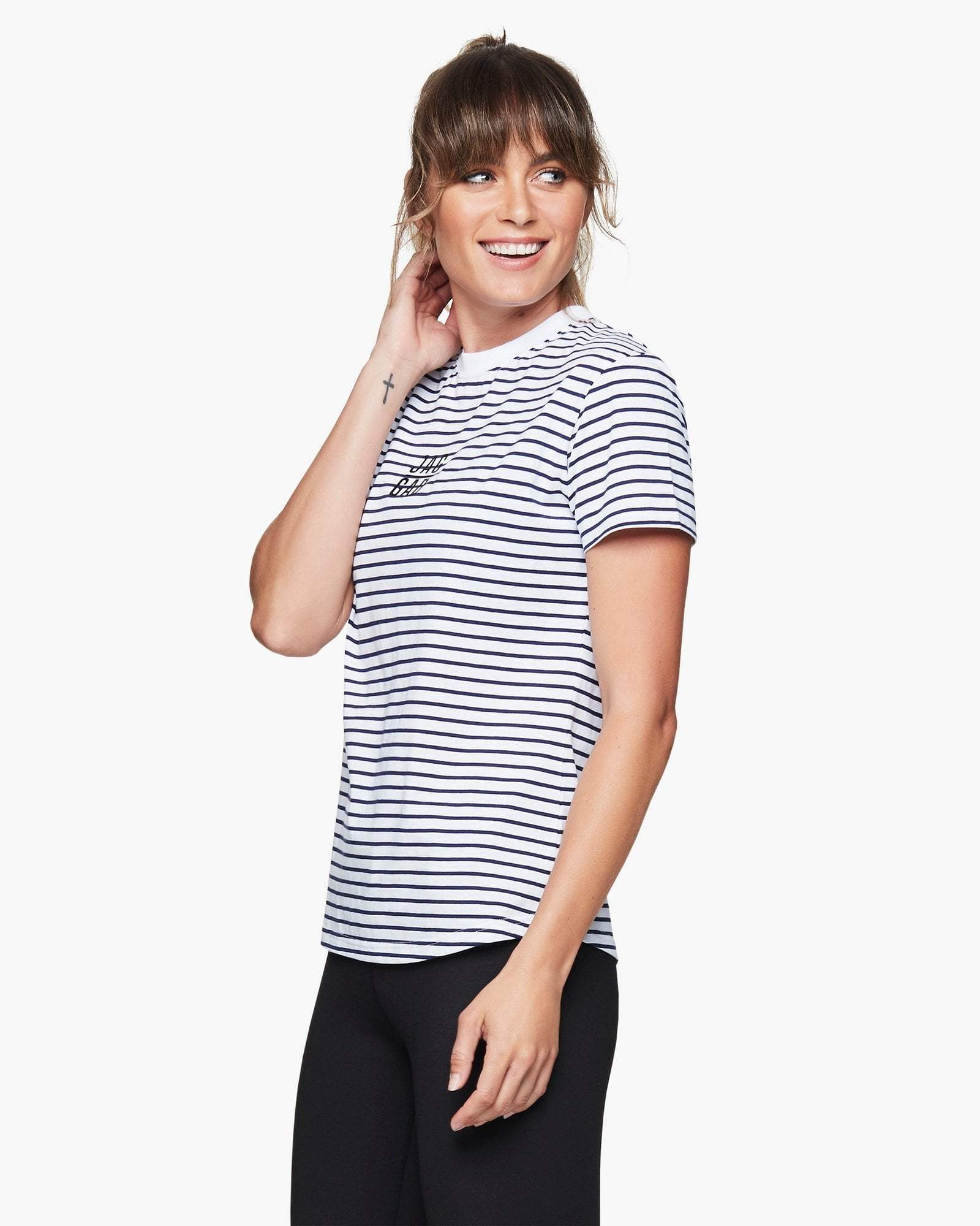 Jaggad Striped Slim Fit Tee