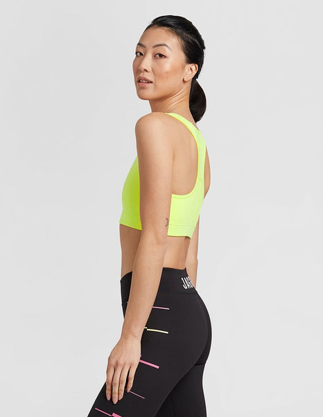 Neon Lime High Support Crop Top