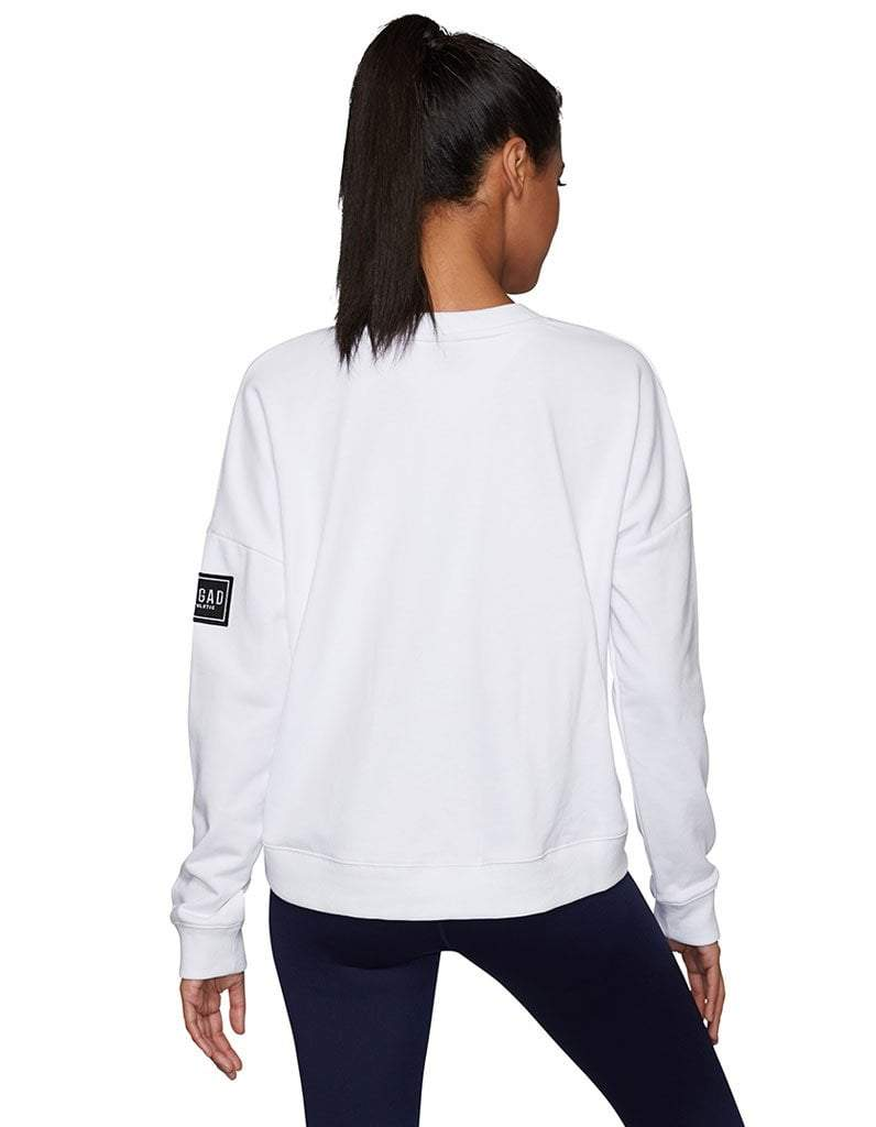 White Offside Drop Shoulder Sweater