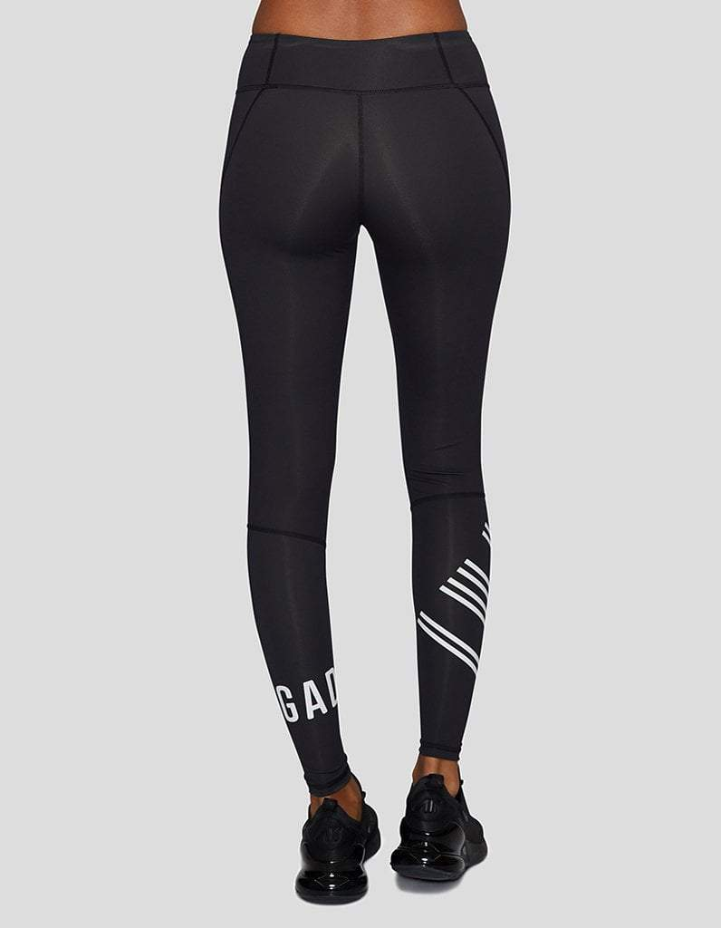 Women's Black/White Compression Leggings