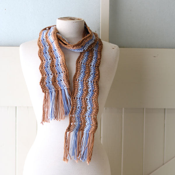 """Ready for Autumn""  Ripple Scarf - By Robyn"