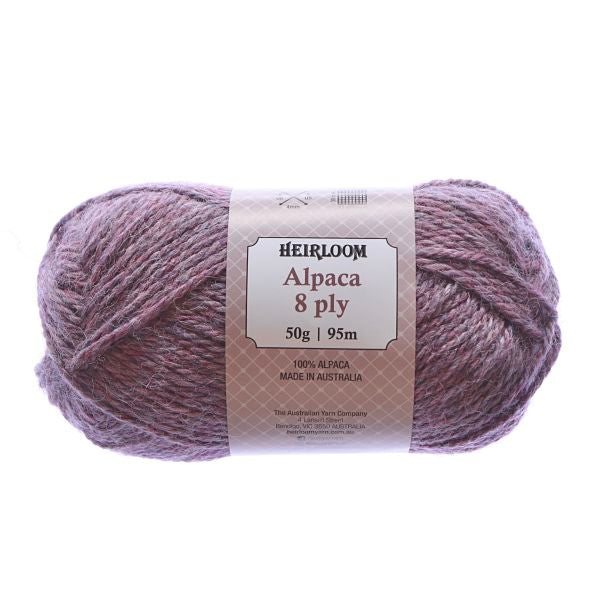 Heirloom Alpaca 8ply Tea Rose 969