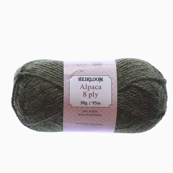 Heirloom Alpaca 8ply Green 976