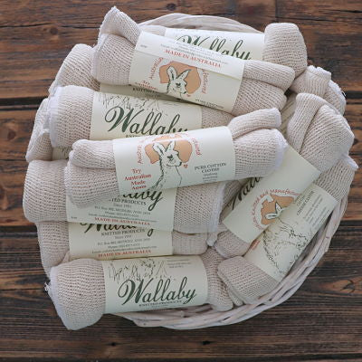 Wallaby Machine Knitted Dishcloth -  Cotton