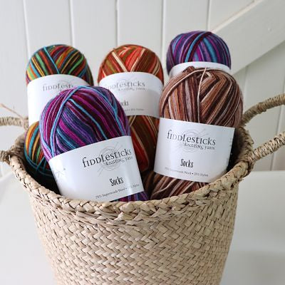 Fiddlesticks Sock Yarn 75% Superwash Wool/25% Nylon
