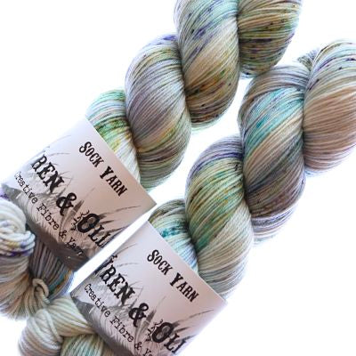 Wren and Ollie Sock Yarn 100gm - Tide Pool