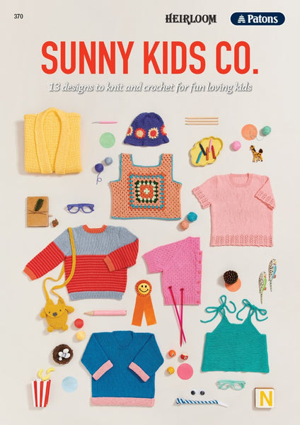 Sunny Kids co - Knit and crochet designs in Heirloom Cotton and Patons Cotton Blend