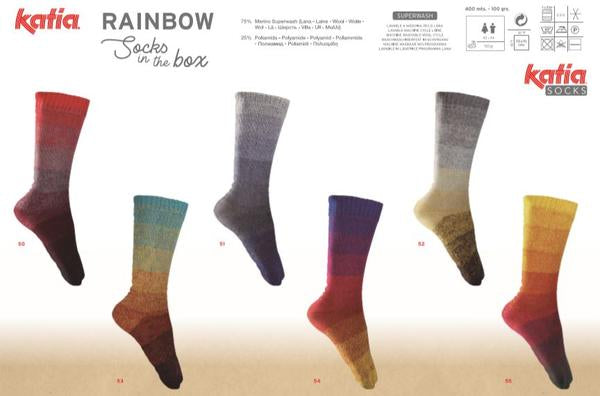 Katia Rainbow Socks in a Box