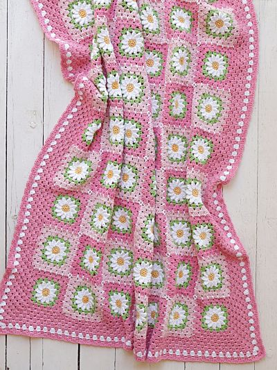 PDF PATTERN - Pretty in Pink Blanket (UK Terminology)