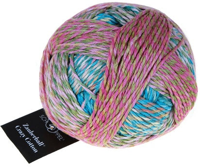 Schoppel Wolle - Crazy Zauberball 8ply/DK 100% Pure Organic Cotton 100gm