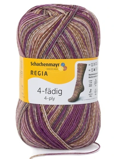 Schachenmayr - Regia Colour 4ply Sock Wool 100gm Wild Patina 7956