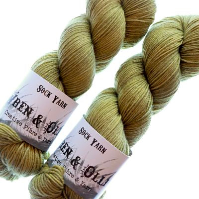 Wren and Ollie Sock Yarn 100gm - Lemon Myrtle