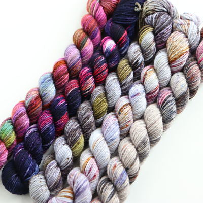 Wren and Ollie Hand Dyed Mini Sock Yarn Skein sets