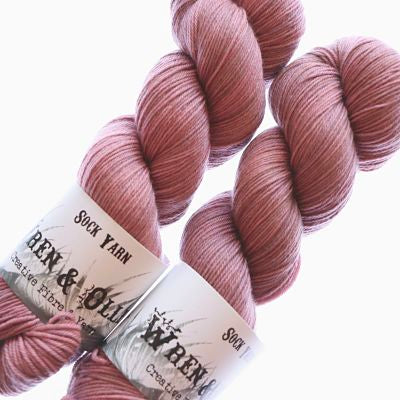Wren and Ollie Sock Yarn 100gm - Antique Rose