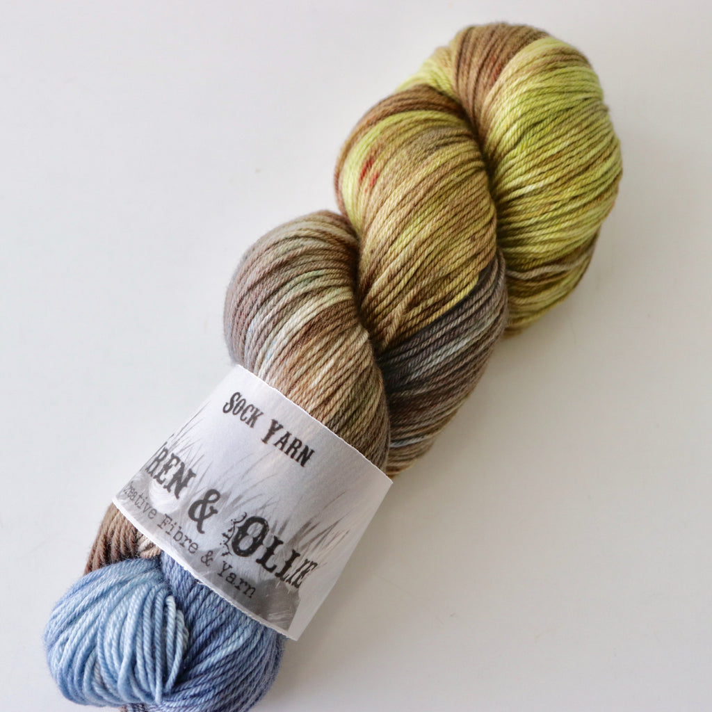Wren and Ollie Sock Yarn 100gm - Wheat Grass