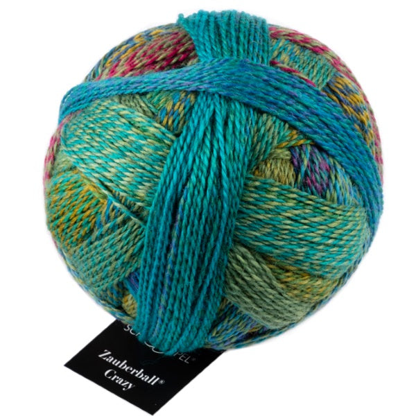 Crazy Zauberball Sock - Deep Water 2404