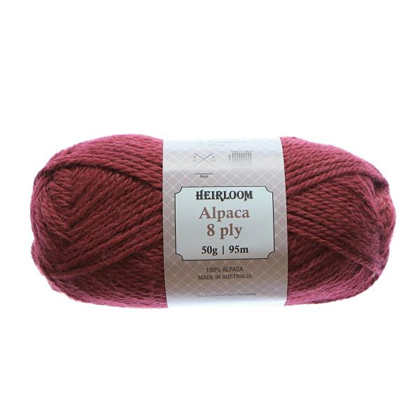 Heirloom Alpaca 8ply Blood Moon 955