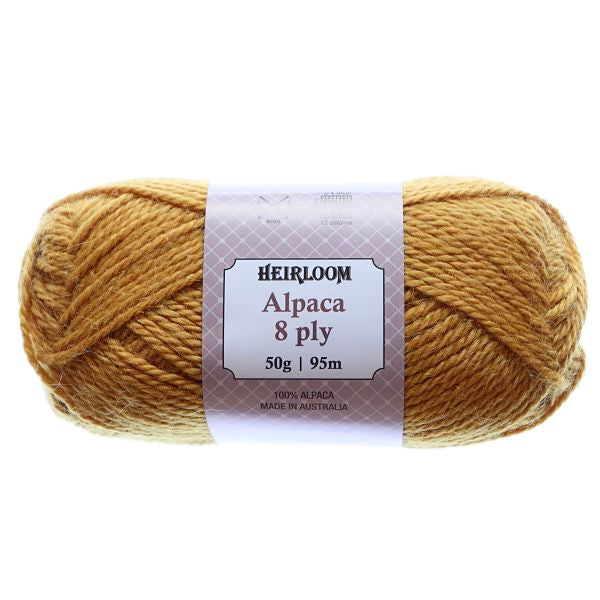 Heirloom Alpaca 8ply Mustard 966