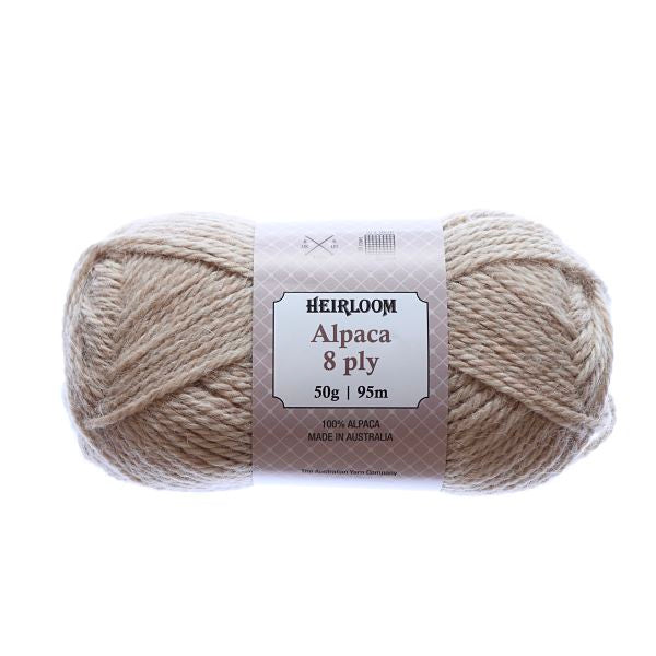 Heirloom Alpaca 8ply Nougat 981